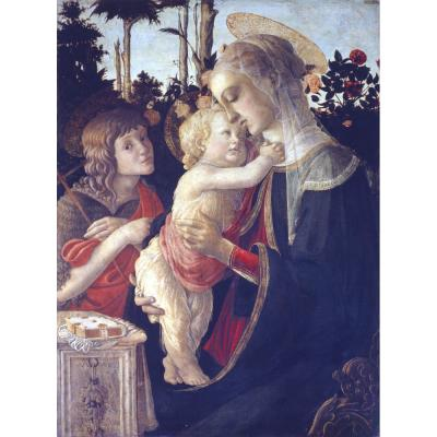 Botticelli – Virgin and Child with Young St John the Baptist