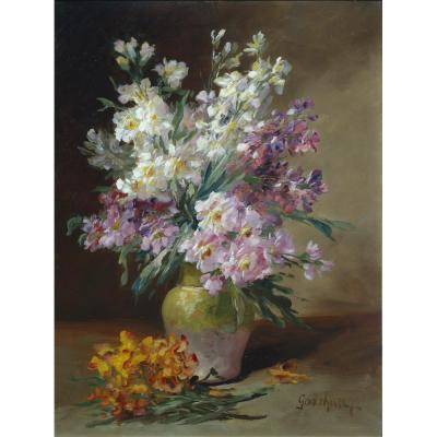 Alfred Godchaux – Summer Flowers in a Vase