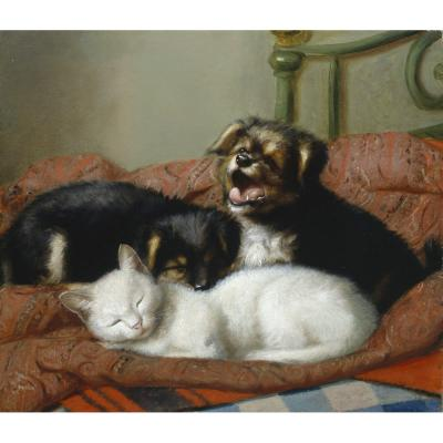 Henriette Ronner-Knip – It's a Hard Life