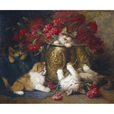 Leon Charles Huber – In the Flower Bucket