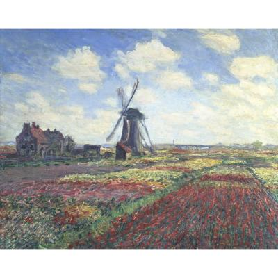 Claude Monet – A Field of Tulips in Holland, 1886