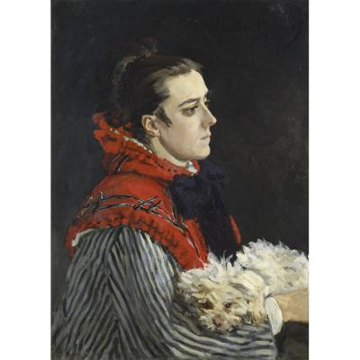 Claude Monet - Camille Monet and Dog, 1866
