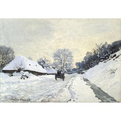 Claude Monet – The Cart. Snow-covered road at Honfleur