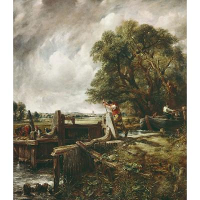 Constable, J - A Barge Passing A Lock On The Stour
