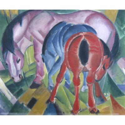 Franz Marc - Mare with Foals