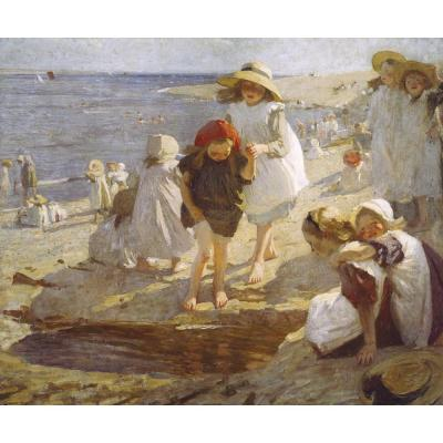 Dame Laura Knight - On the Beach
