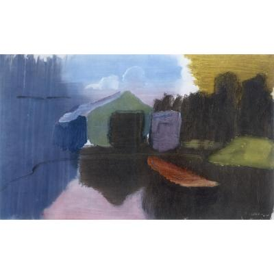 Ivon Hitchens - The Boathouse - Early Morning