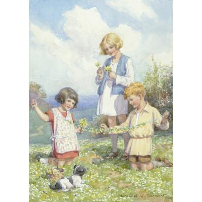 Margaret Tarrant-Making the Cowslip Ball
