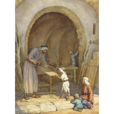 Margaret Tarrant-The Carpenter's Shop