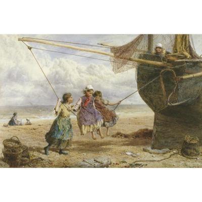 Myles Birket Foster-The Swing