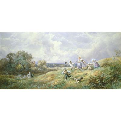 Myles Birket Foster – Children Playing