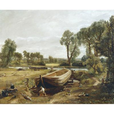 John Constable – Boat-building near Flatford Mill