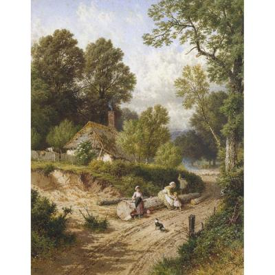 Myles Birket Foster – The Green Lane