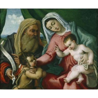 Lorenzo Lotto – Madonna and Child with St John the Baptist and St Zaccaria