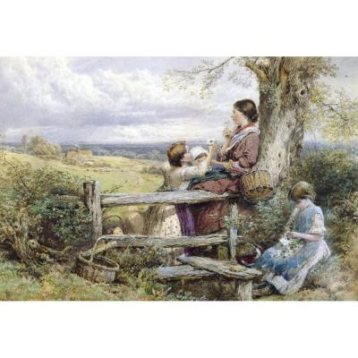 Myles Birket Foster – The Wildflower Gatherers