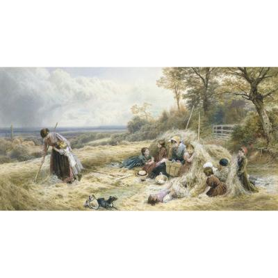 Myles Birket Foster – The Hayfield