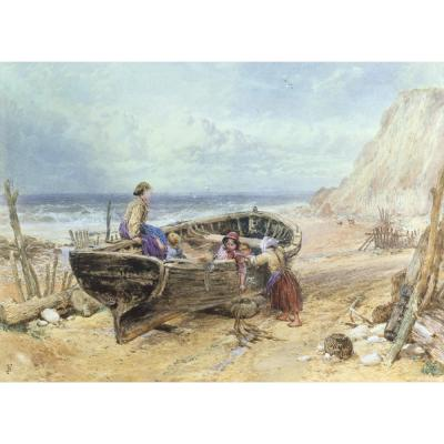 Myles Birket Foster – On The Beach at Bonchurch, Isle of WightMyles Birket Foster – On The Beach at Bonchurch, Isle of Wight