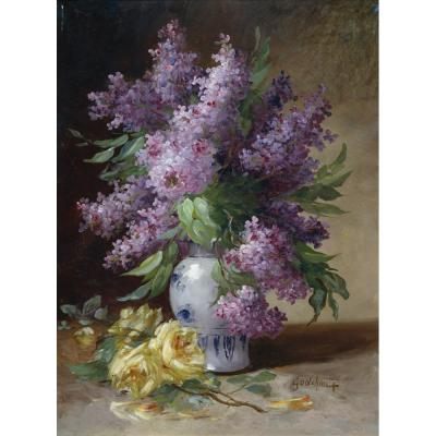 Alfred Godchaux – Lilac in a Vase