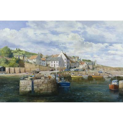 Clive Madgwick – Harbour at Crail in Fife