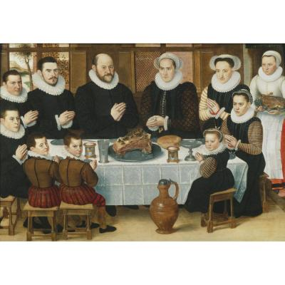 Anthonius Claeissins – A Family saying Grace before the Meal