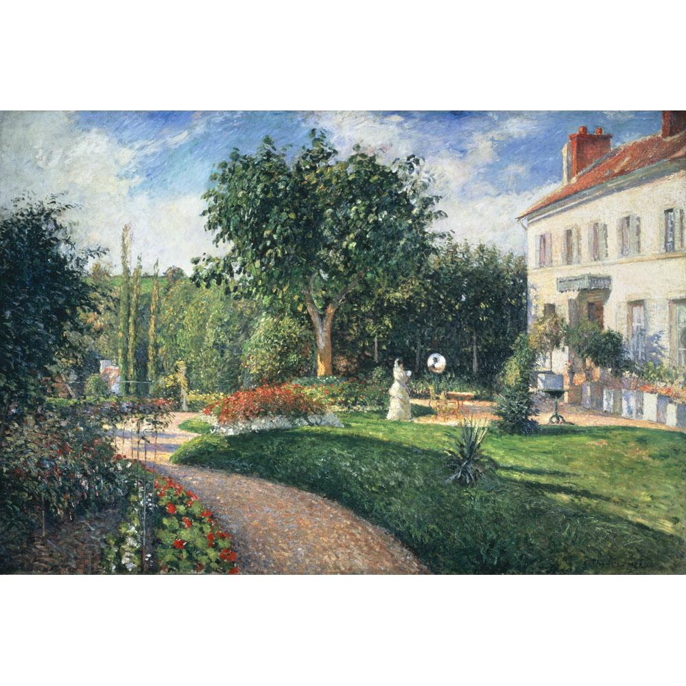 Le jardin des mathurins pontoise by camille pissaro for Le jardin de the