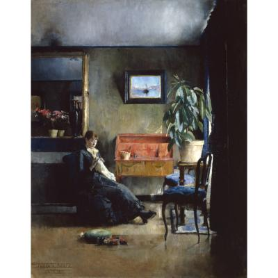 Harriet Backer – Blue Interior (Paris 1883)