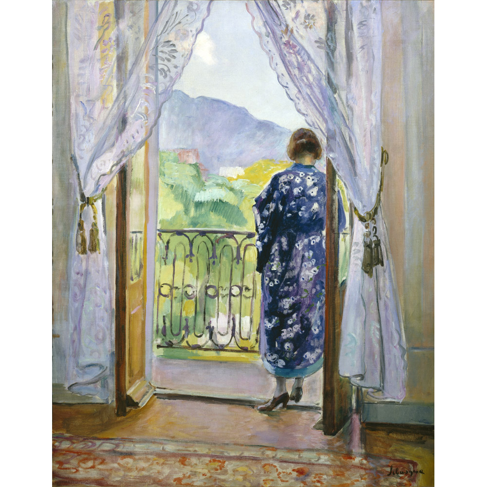 The Blue Dressing Gown by Henri Lebasque