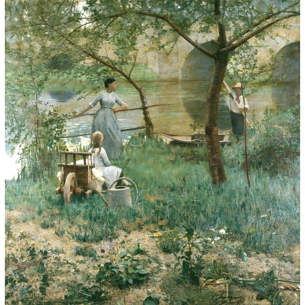 John Lavery Under The Cherry Tree on Dance Foot Prints