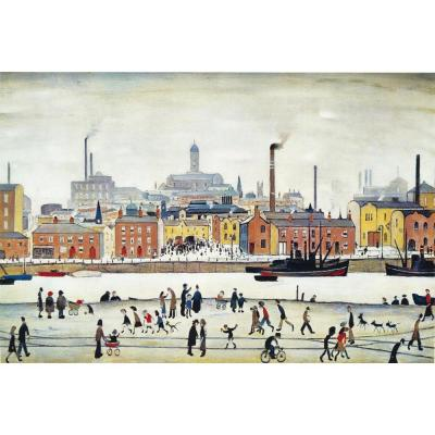 Northern River Scene, Lowry, Medici