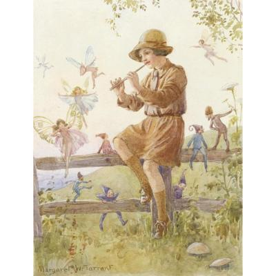 The Brownies/' Christmas Mail M W Tarrant Print
