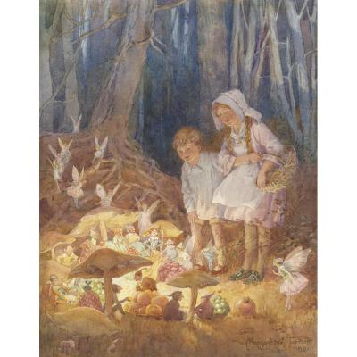 Margaret Tarrant - The Fairies' Market