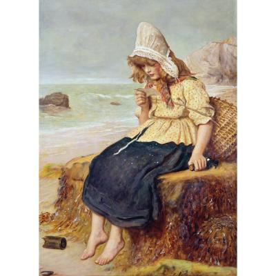 John Everett Millais - A Message from the Sea