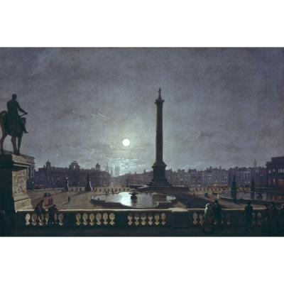 Henry Pether – Trafalgar Square by Moonlight