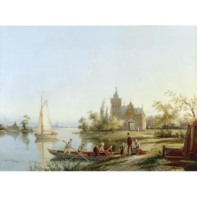 William Raymond Dommerson – A Boating Scene