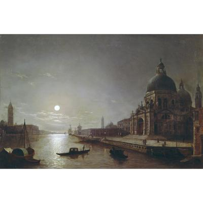 Henry Pether – A Moonlit View of the Grand Canal, Venice