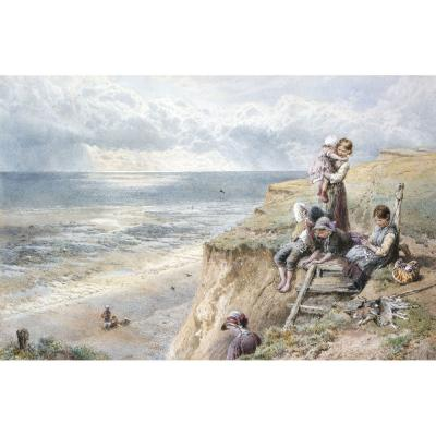 Myles Birket Foster – The Way Down the Cliff