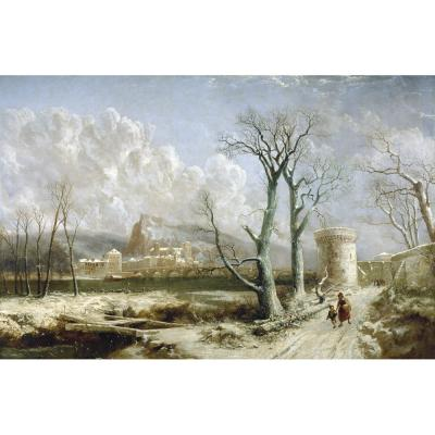 Joseph Paul Pettit – Continental Winter River Scene