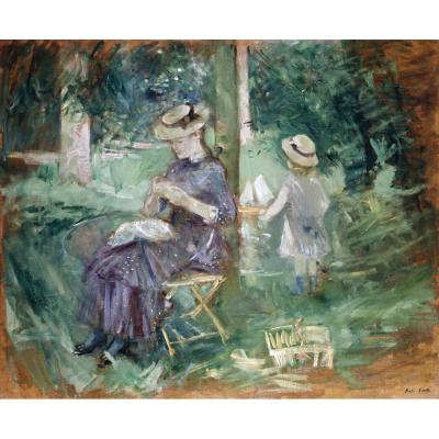 Berthe Morisot – A Woman and Child in a Garden