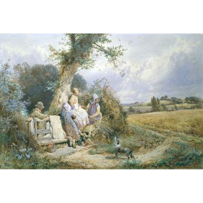 Myles Birket Foster – Young Gleaners Resting