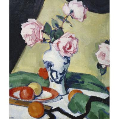Samuel John Peploe – Japanese Jar with Roses