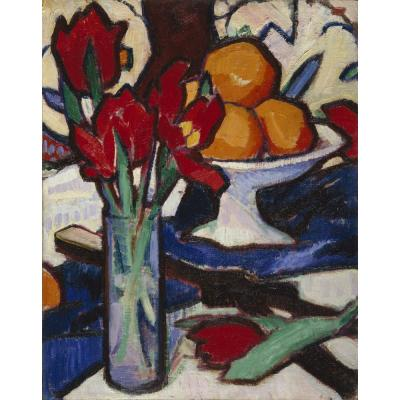 Samuel John Peploe – Still Life with Tulips