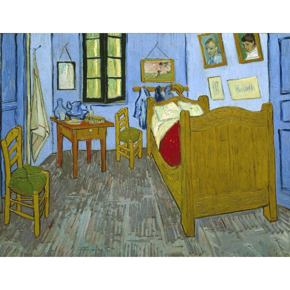 Wooden Bedroom Bench Van Gogh Bedroom Art Bedroom Ceiling Light Fixtures Kids Bedroom Curtains Design: Van Gogh's Bedroom In Arles By Vincent Van Gogh