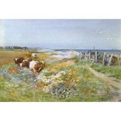 Charles James Adams – On the Coast, Littlehampton in the distance