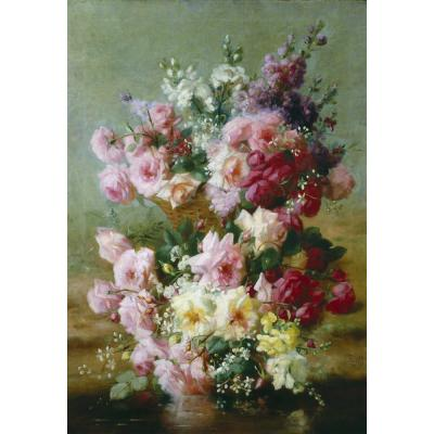 Frederick Fenetti – A Profusion of Roses and Summer Flowers